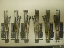 6 ATLAS BRASS SNAP SWITCHES HO SCALE  (LOT 426)