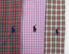 Polo Ralph Lauren SS Classic Fit Plaid Sport Shirt $89 W Pony Pink Red Green NWT