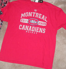 NEW NHL Montreal Canadiens T Shirt Men Old Time Hockey NEW NWT