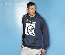 MENS BLUE SERGIO TACCHINI HOODED SWEATSHIRT SIZE SMALL BNWT RRP £39.99