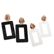 Hiphop Punk Rock Exaggerate Popular Rectangle Fashion Fancy Earrings