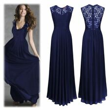 Sexy Women Sleeveless Hollow Halter Lace Slim Formal Cocktail Party Maxi Dress