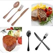 3 pieces Stainless Steel Flatware Knife Fork Spoon Set Cutlery Chic Gift 2 Color