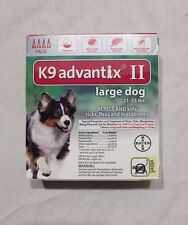 Bayer K9 Advantix II for  Large Dogs 21-55 lbs - 4 Pack - FAST Shipping!