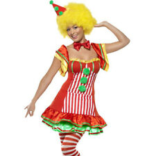 Deluxe Circus BooBoo Clown Ladies Womens Female Fancy Dress Costume Outfit 39297