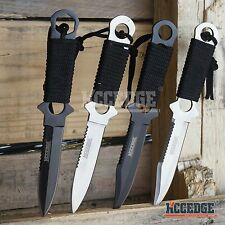 """9"""" SCUBA DIVING KNIFE STAINLESS STEEL FULL TANG FIXED BLADE SURVIVAL HUNTING"""