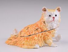 Cat Faberge trinket box - hand made  by Keren Kopal with Austrian crystals