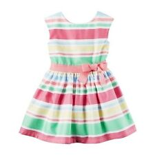 New Carter's Easter Spring Holiday Dress Ribbon Stripes NWT 3T 4 5T 8 Girls