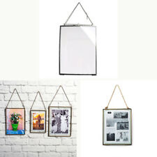 Antique Black Metal Glass Photo Picture Frame Wall Hanging Portrait Home Décor