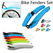 Cycling Fender Mountain Bike Bicycle Front & Rear Fenders Mudguard Set Tail LED