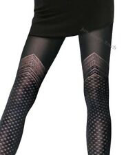 Patterned Microfibre Tights by Gabriella IRMA size 2 3 4 MOCK SUSPENDER Tights