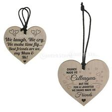 Shabby Chic Heart Signs Home Garden Mother Love Friendship Plaque Wine Tags