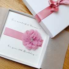 Luxury Boxed Birthday Card Personalised for Mum - Sister - Nan - 40th 60th 70th