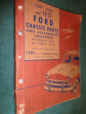 1949-1951 FORD CHASSIS PARTS & ACCESSORIES CATALOG / PARTS BOOK / MANUAL/ ORIG