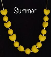 SUMMER Teething Necklace Autism Sensory Chewing Baby Shower Chewelry