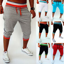 Mens Casual Trousers Shorts Baggy Jogger Sports Pants Harem Training Dance Pants