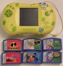 LEAP FROG Leapster 2 Learning System 6 Games Spongebob Squarepants Console/Game