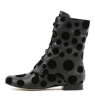New Gamins Grumpa Black&Grey Spot Womens Shoes Casual Boots Ankle