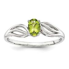 Ladies 925 Sterling Silver Peridot August Birthstone Promise Ring Size 5 - 10