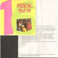 """MUSICAL YOUTH 16 7"""" VINYL UK Mca 1983 Press Release B/W Strictly Vibes (You7)"""