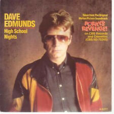 "DAVE EDMUNDS High School Nights 7"" VINYL Dutch Cbs 1985 B/w Porky's Revenge"