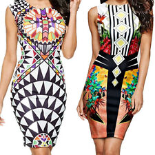 Package  New Dress Digital Printing Vest  Pencil Sexy Mini Hip Pen Nightclub