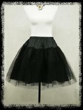 "BLACK 50s PROM/PINUP/SWING 20"" PETTICOAT/UNDERSKIRT"