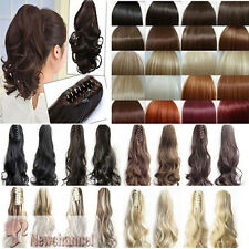 Real as human Clip in Hair Extension Claw Pony tail Blonde Extensions Synthetic