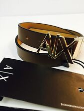 New Armani Exchange Womens A/X REVERSIBLE HINGE BELT