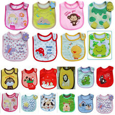 Toddler Baby Saliva Waterproof Kids Lovely Cartoon Pattern 3 Layer Lunch Bibs