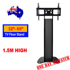 1.5m Acrylic Glass TV Floor Stand, LED LCD TV Wall Mnt Bracket, Mobile TV stand