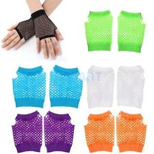 Fingerless Fishnet Gloves Wrist Length Costume Wedding Evening Party Gloves