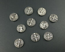Antique Silver Plated Metal Beads Round Loose Spacer Beads For Jewelry 10mm