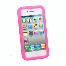 Full Body Transparent Soft TPU Skin Cover for iPhone 4S with Anti Dust