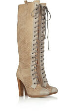 Reed Krakoff Womens Python Knee High Boots Made in Italy