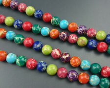 Rainbow Sea Sediment Jasper Gemstone Beads Round Loose Jasper Beads 6,8,10,12mm