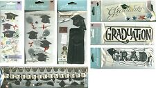 GRADUATION Grad Graduate Gown Mortarboard Diploma U PICK Stickers Scrapbook
