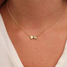 Fashion Women Choker Lover Pendant Monogram Necklace Letter Heart Shaped Jewelry