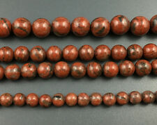 Wholesale Natural Gemstone Red Sesame Jasper Beads Round Loose Beads 6,8,10,12mm