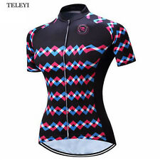 2017 TELEYI Pro Road Bike Clothing Summer Cycling Jersey Top Womens Short Sleeve