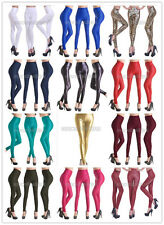 New Fashion Sexy Women Lady High Waist Faux Leather Stretch Leggings Tight Pants