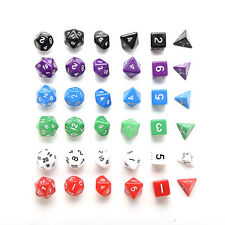 D4 D6 D8 D10 D12 D20 Dice Set for Dungeons and Dragons Game and D&D Game SU