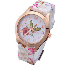 Jelly Watches Fashion Floral Sports Quartz Silicone  1Pcs New Watch Women