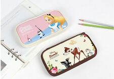 Disney Canvas School Bag Pencil Pen Case Cosmetic Makeup  Pouch Zipper Purse