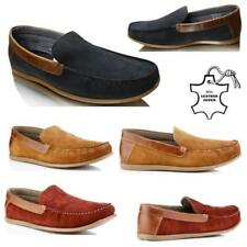 MENS BOYS REAL SUEDE LEATHER SLIP ON DRIVING MOCASSIN LOAFERS CASUAL SHOES SIZE
