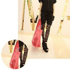 Shopping Large Nylon Mesh Tote Transparent Beach Bag Grocery Shoulder Handbag