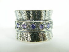 Sterling Silver 925 Ring Eternity rings Ring Amethyst CZ Purple  Ring