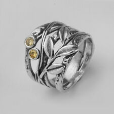 925 Sterling Silver Ring Nature Ring Champagne CZ orange Women Ring