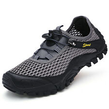 Mens Fashion Breathable Hiking Shoes Mesh Non Slip Wearable Sports Outdoor Shoes