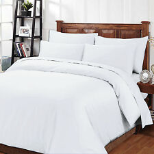 1000TC 4pcs 100% Egyptian Cotton Sheet Set- KING & QUEEN- WHITE & WHITE STRIPE